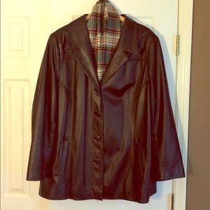 Ladies Black Blazer Style Jacket Wilson's Leather